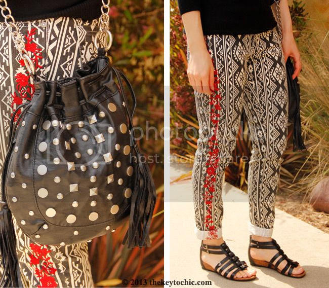 Forever 21 embroidered tribal print jeans, Naturalizer gladiator sandals, L.A. personal style blog, L.A. fashion blogger