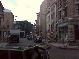 Paramount Studio's New York Street backlot being prepped for Spider-Man 3'.