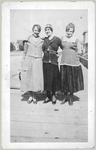 Three women on the boardwalk