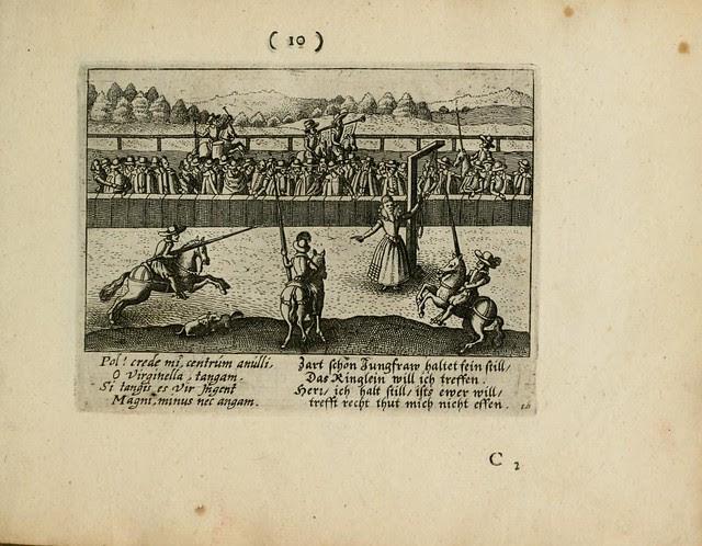 medieval tournament scene - jousting variation