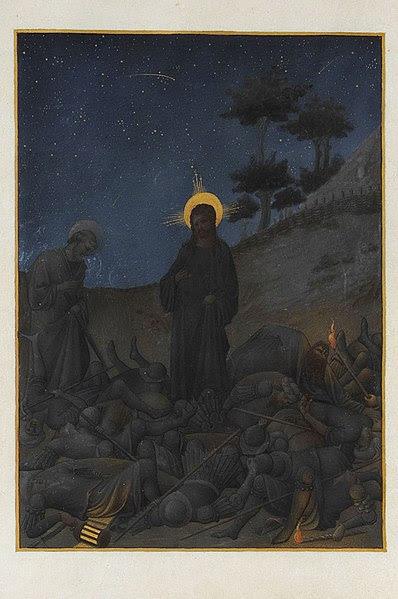 Image:Folio 142v - Christ in Gethsemane.jpg