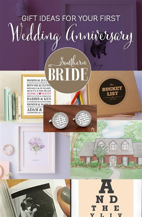 1st Wedding Anniversary Present Ideas   Southern Bride