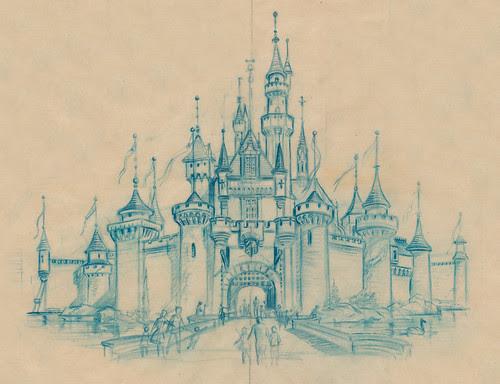 Sleeping Beauty Castle Sketch, 1955