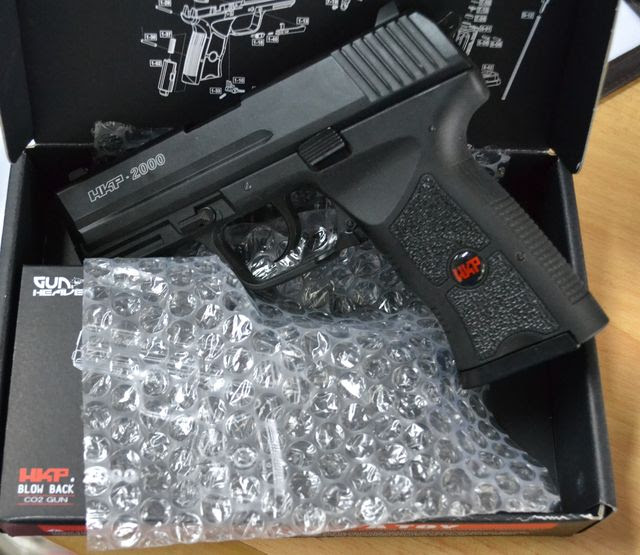 ASG Metal HKP2000 CO2 GBB Pistol (6mm, Black)
