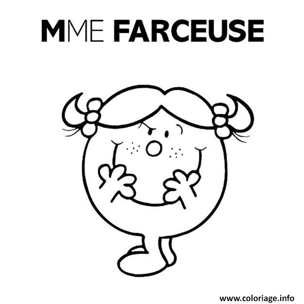 Coloriage Monsieur Madame Mme Farceuse Jecoloriecom