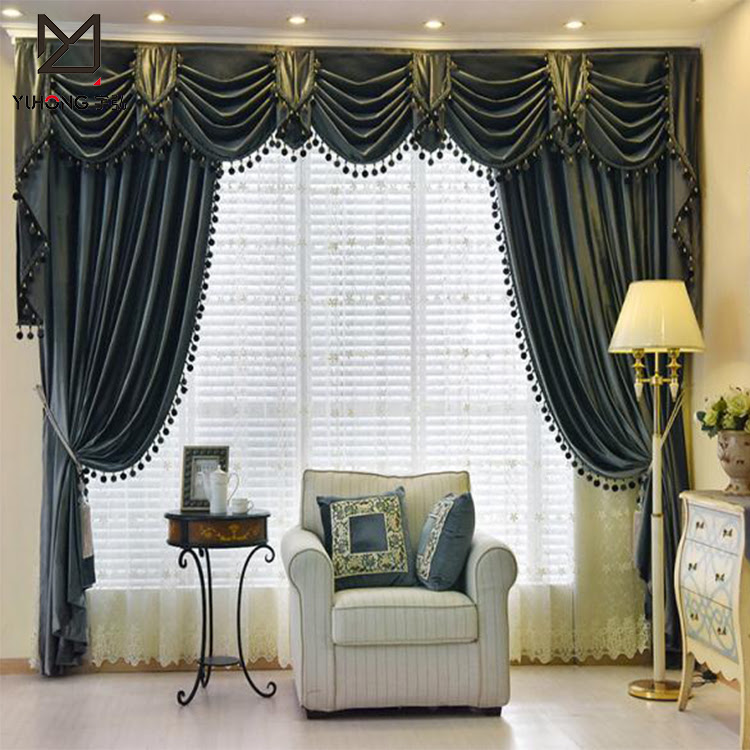 Fancy Elegant Velvet Window Curtains And Swags For Living Room Buy Elegant Curtain With Elegant Valance Window Curtains And Swags Fancy Window Curtain Product On Alibaba Com