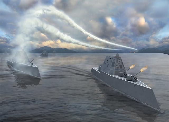 Hình ảnh Quái vật tàng hình của hải quân Mỹ lần đầu tiên bơi ngoài biển số 3