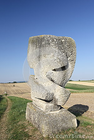 Abstract Stone Sculpture in the Fields