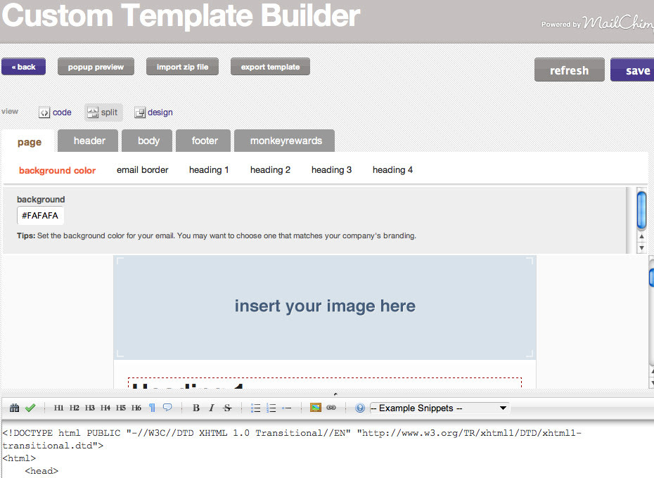 Editable Email Template