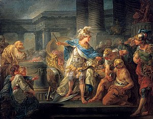 Alexander cuts the Gordian Knot, by Jean-Simon...