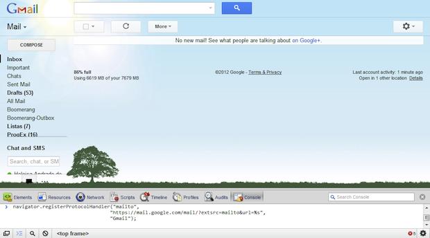 """Como fazer o Gmail abrir links """"mailto:"""" no navegador"""