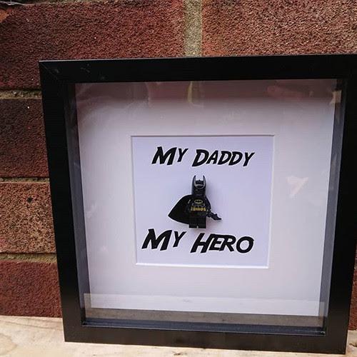 Lego Superhero Inspired Batman Minifigure Shadow Box Frame My Hero