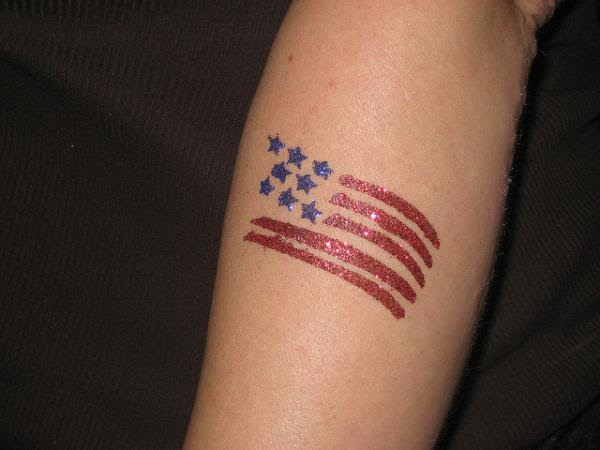 Tatos Me This Is Black And White American Flag Tattoo Designs
