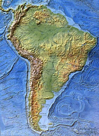 Topographical Map Of Latin America Topographical Map Of South America | Bedroom 2018