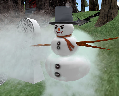 Dead or Red Something Spunky FrostyGrave with Vampire Snowman