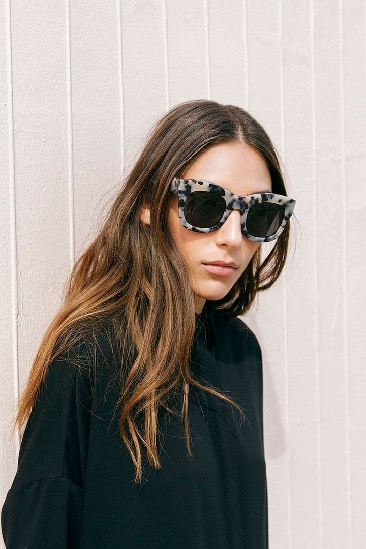 Le Fashion Blog Easy Style Oversized Statement Sunglasses Illesteva Tortoise Hamilton Squared Chunky Sunnies Long Sombre Balayage Hair Via The Dreslyn