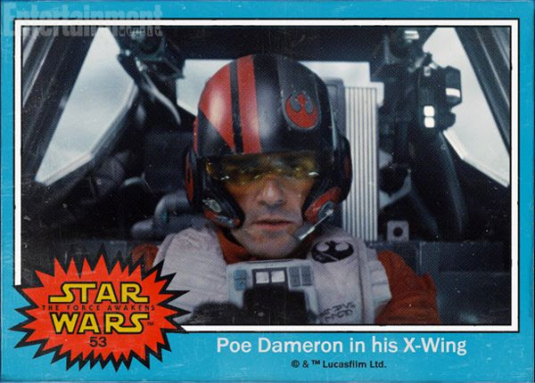 Poe Dameron (Oscar Isaac) flies his X-Wing into battle in STAR WARS: THE FORCE AWAKENS.