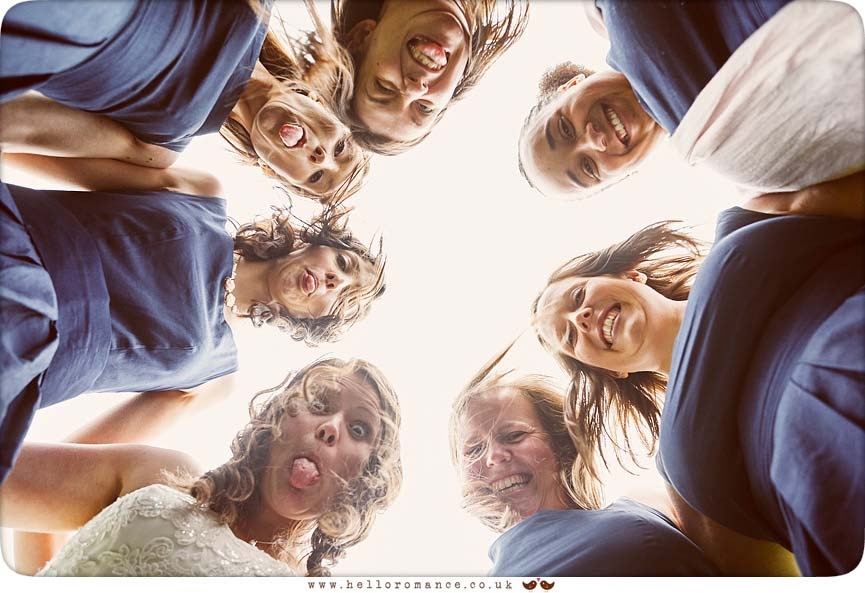 Fun wedding photography with Bride and Bridesmaids! - www.helloromance.co.uk