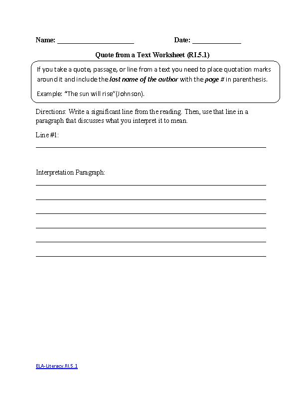 18 Best Of Informational Text Worksheets Veterans
