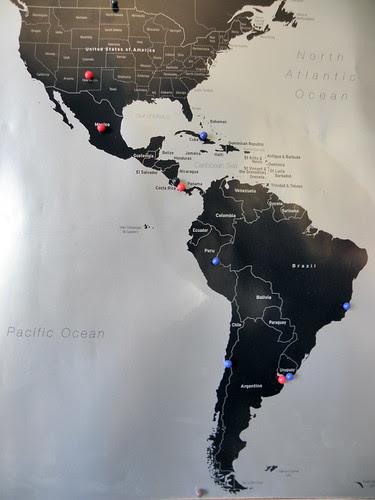 cork boad pin map