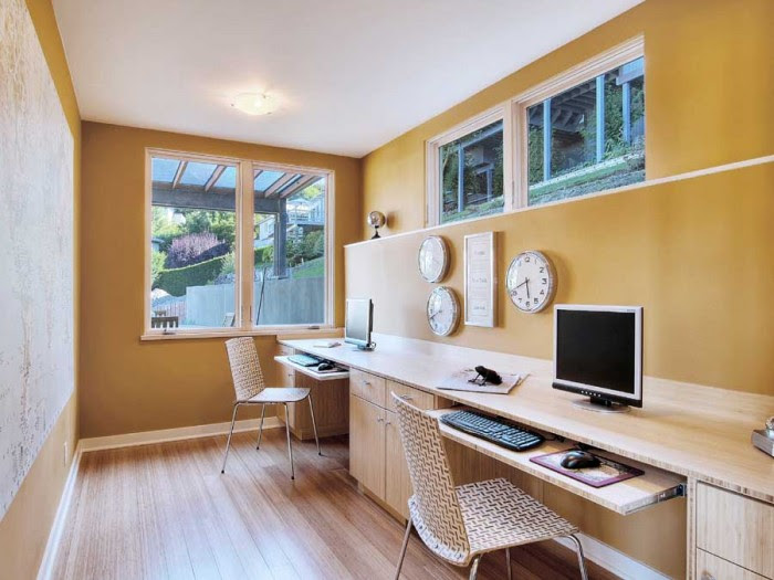 home office space basement ideas