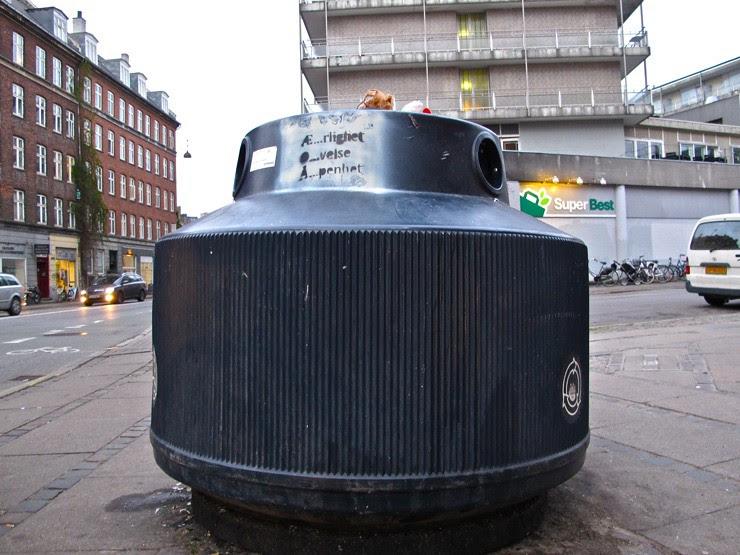 Copenhagen glass recycling bin