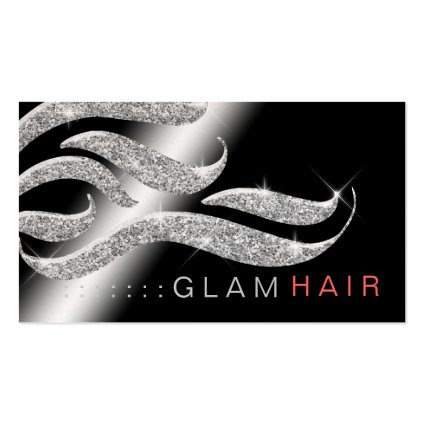 311 Glam Hair Appointment Card Metallic Paper Business Cards
