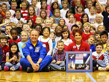 Astronaut Mike Fincke at Avonworth Elementary School