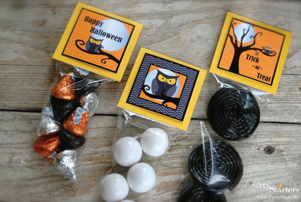 Modern Owl Halloween DIY Printable Party Shapes