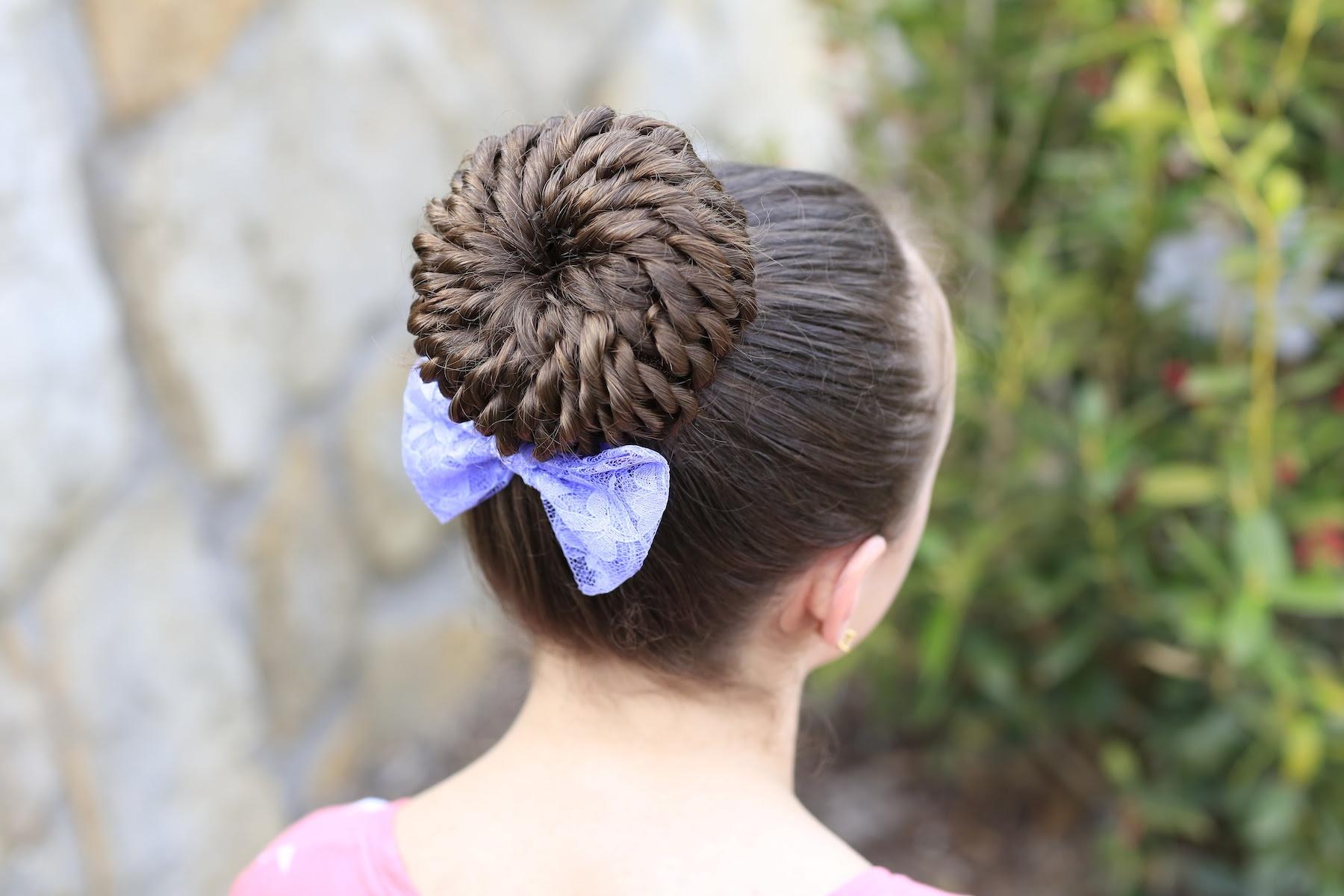 Rope Twist Pinwheel Bun Prom Hairstyles Cute Girls Hairstyles