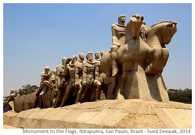 Monumento as bandeiras, San Paulo, Brazil - Images by Sunil Deepak, 2014