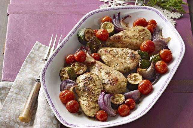Herb Baked Chicken & Vegetables Image 1