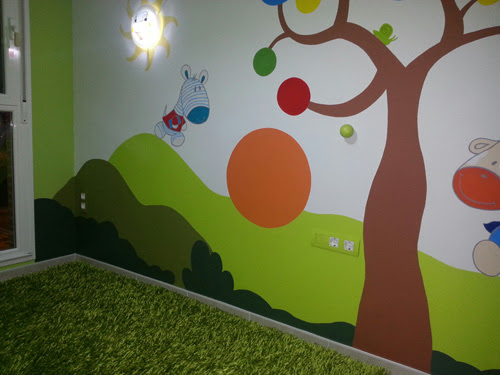 Murales Infantiles Pared Composicion Pared Cuna With Murales
