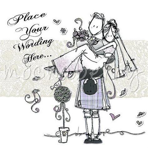 personalised wedding cards scottish wedding cards