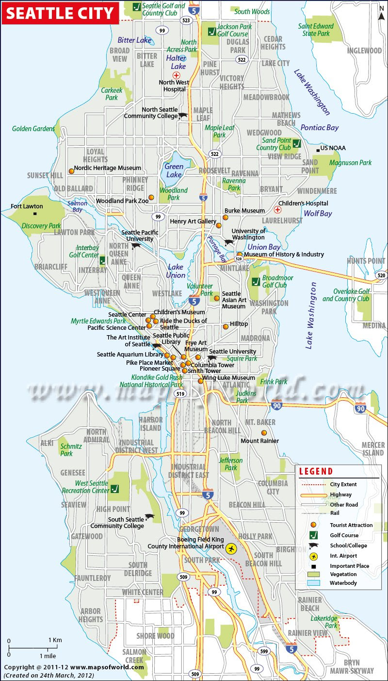 Seattle Map Usa Map Guide 2016
