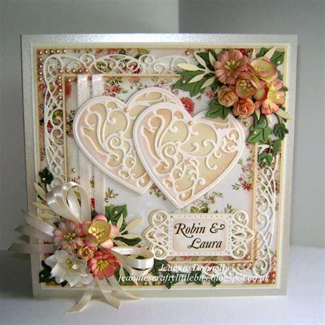 Wedding Card using three Sue Wilson's designs Dies from