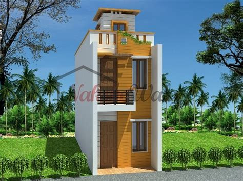 front view  small house design  india  base wallpaper