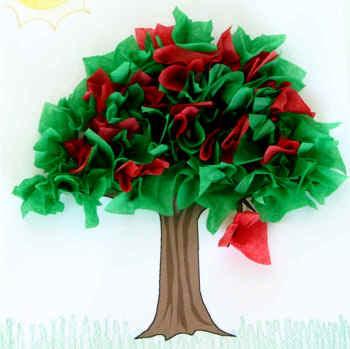 Manualidad De Papel El árbol De Verano
