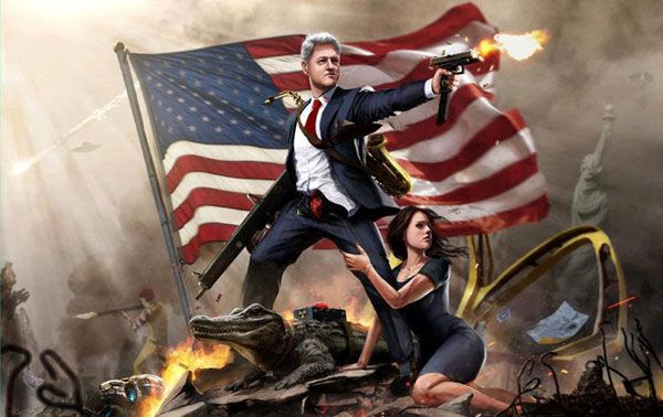 Bill Clinton da badass.
