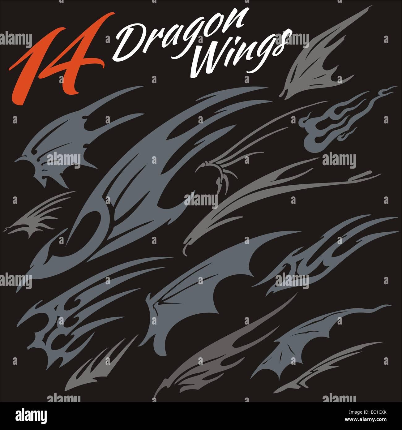 Flügel des Drachen Stockbild