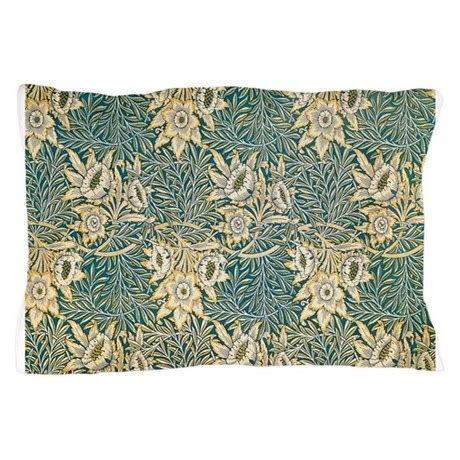 William Morris Tulip and Willow Pillow Case by FineArtDesigns