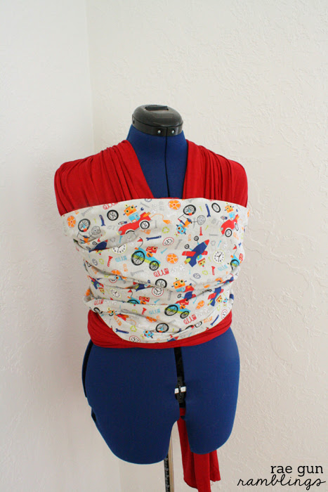 How to make your own Moby style baby carrier with a decorative panel - Rae Gun Ramblings