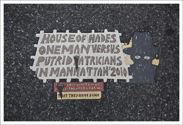 Toynbee Tile Park Avenue and 82nd Street NYC