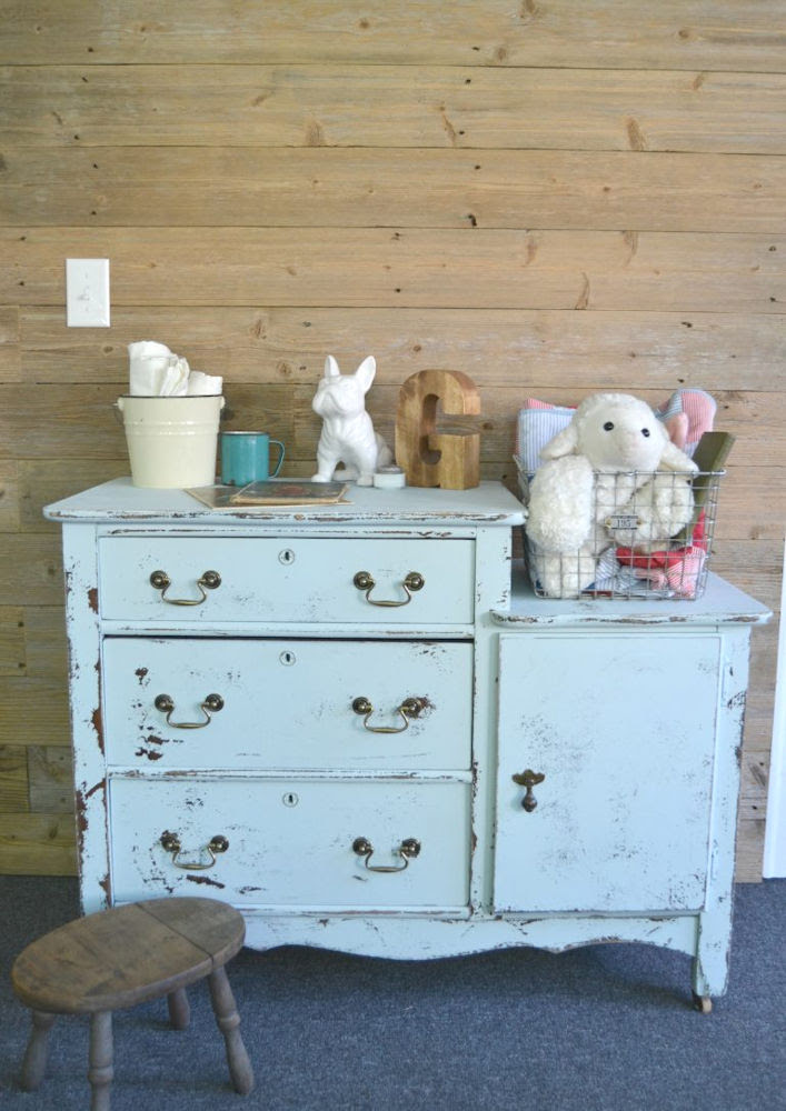 Antique English Bail Pull - Dresser Makeover