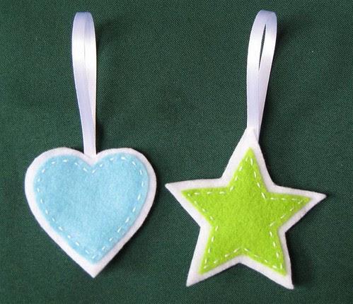 Felt Star and Heart Ornaments 2