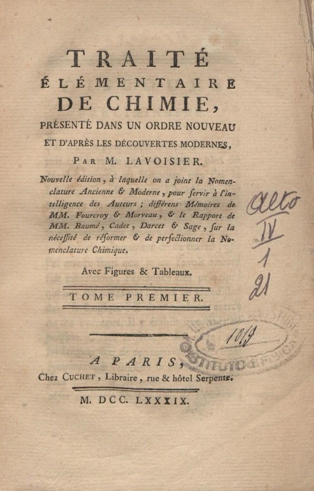Traité élémentaire de chimie (1789)