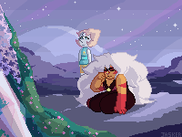 a little pixel thing i mostly did at work! i hope someday they can bond over their pasts together ;;;