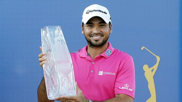 Jason Day with PLAYERS trophy