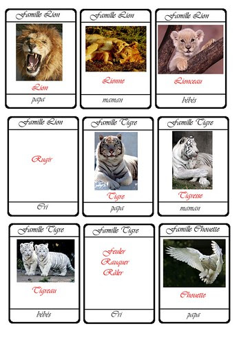 cartes 7 familles animaux7a