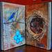 altered book spread